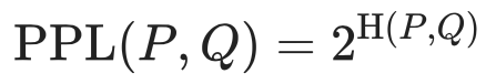 Perplexity Equation